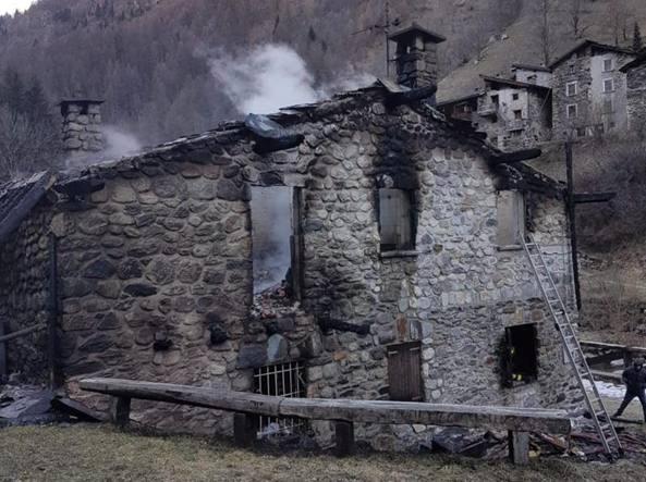 L incendio misterioso alla baita di fulvio berera «sono scomodo