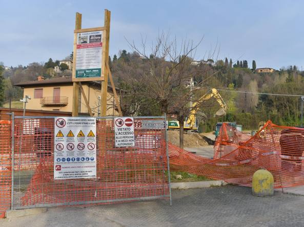 Il cantiere in Val d'Astino