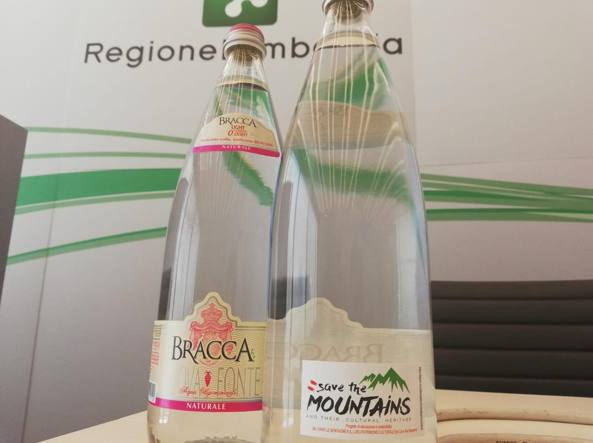 «Save the mountains» sulle bottiglie Bracca