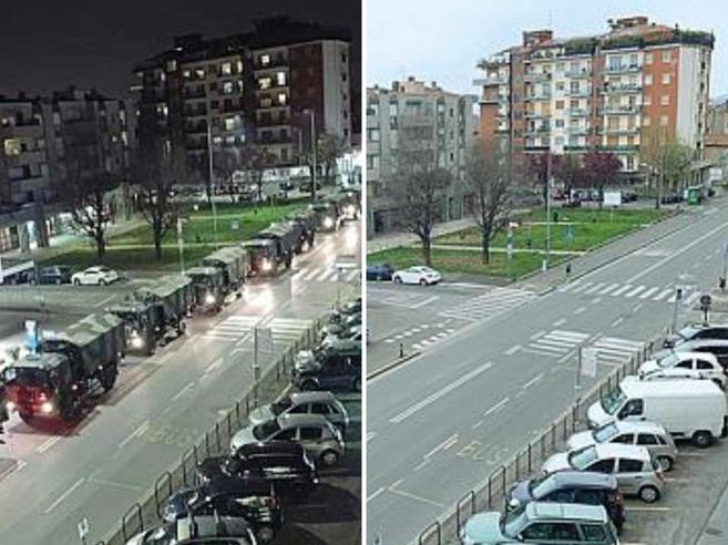 Coronavirus a Bergamo, Emanuele che ha scattato la foto simbolo dei camion: «Pensavo fossero i rinforzi»