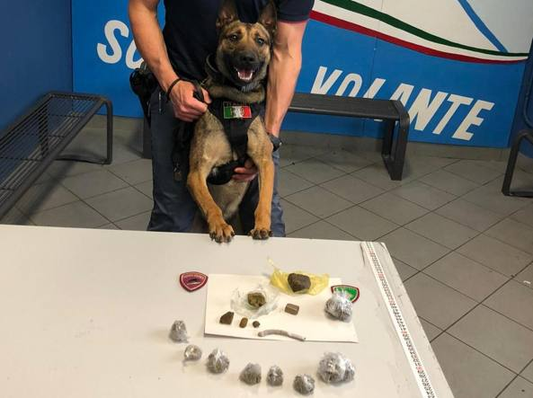 Kimon e la droga sequestrata in stazione