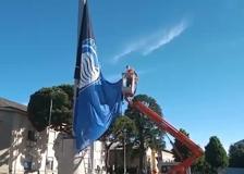 Atalanta, la bandiera sulla storica antenna di Dalmine
