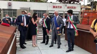 Gorle, l'inaugurazione della passerella ciclopedonale