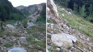 Cascate del Serio e sentiero per il Curò: la frana vista da vicino